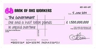 All Together For The NHS 2014 Giant Cheque